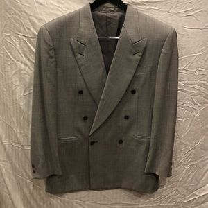 Gorgeous Double Breasted Canali Glen Plaid Suit